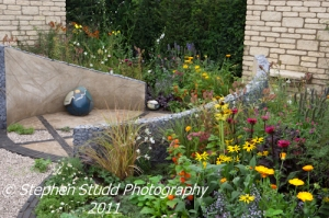 Awarded Silver Gilt Flora; The Bradstone Vitality Garden, designed by Caroline Butler, Chris Beardshaw Mentoring Scholarship Winner 2011