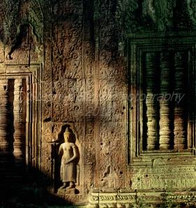 Sunlight on temple Angkor Wat