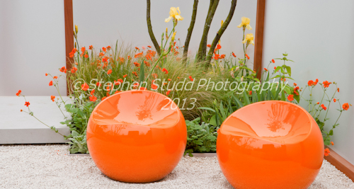 Stephen Studd Photography     Fresh Gardens; Rainbows Childrens Hospital Garden;   Designers Chris Gutteridge,  Ant Cox & Jon Owens (Second Nature Gardens);        Awarded Silver RHS Chelsea Flower Show 2012