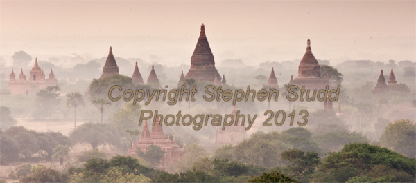 first light over stupas Bagan, Myanmar (Burma)
