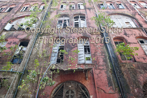 Old colonial building in Yangon, Myanmar, (Burma), still in use