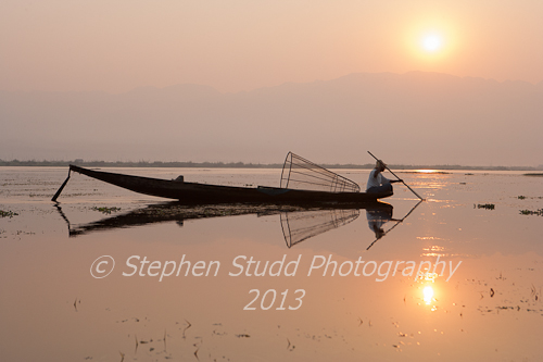 Myanmar (Burma) Lake Inle fisherman