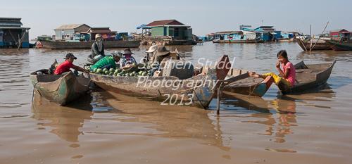 Ton le Sap lake market Cambodia Siem Reap