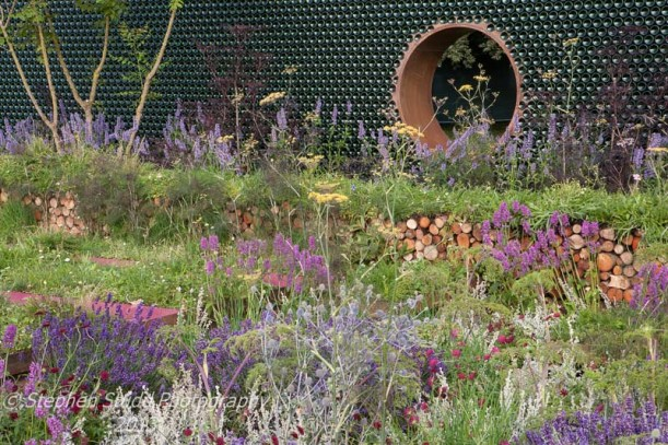 Tatton Park RHS Flower Show 2013 GreEnCO Sense Designed by  Christopher James Built by Graduate Landscapes Ltd Silver medal in the RHS National Young Designer of the Year award 2013