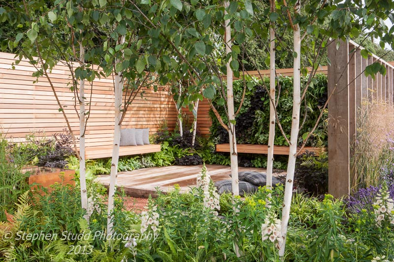 Winner of the RHS National Young Designer of the Year award 2013 and Gold Medal Escape to the City designed by  Tony Woods built by Garden Club London