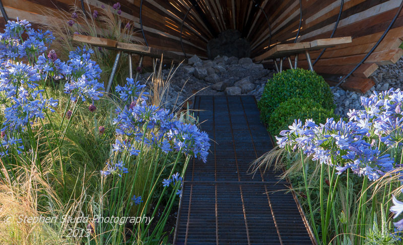 Tatton Park RHS Flower Show 2013 Gravitational Pull Designed by  Leon Davis & Brendan Vaughan in the Galaxy Gardens category awarded Gold medal and Best Galaxy Garden