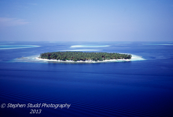Maldives aerial shot