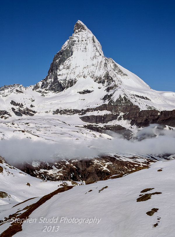 Switzerland the Matterhorn covered in snow