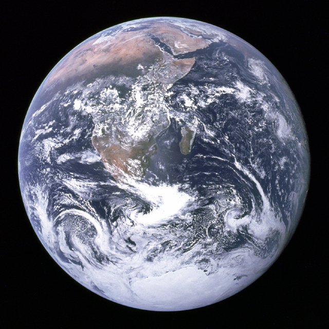 Earth from space; image courtesy of NASA