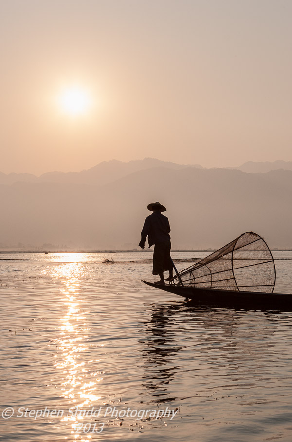 Burma Myanmar Lake Inle Fisherman Sunrise