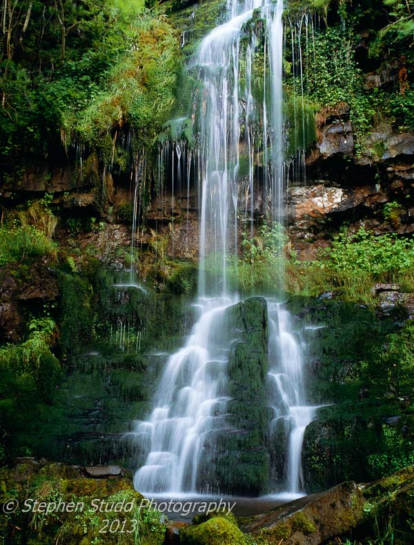 Wales, Powys, Brecon Beacons, Waterfall