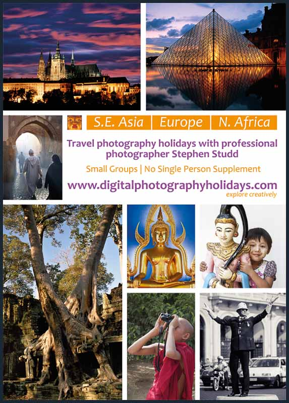Digital Travel photography holidays holiday vacations vacation tours workshops workshop tour City Breaks to Paris, Prague, Rome, Venice  Marrakech Burma Myanmar Angkor Wat Cambodia Bangkok Thailand hosted by Stephen Studd