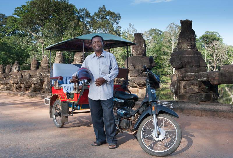 Chenti Sia tuk tuk driver Siem Reap Cambodia