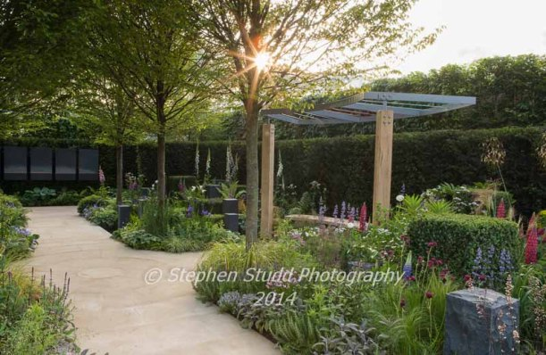 Chelsea RHS Flower Show 2014 - Hope on the Horizon Garden - Designer Matt Keightley -   Sponsors - David Brownlow Charitable Foundation for Help for Heroes