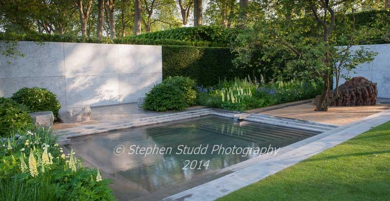 RHS Chelsea flower show 2014 - The Laurent Perrier Garden - Designer: Luciano Giubbilier - Sponsor
