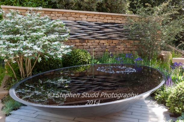 Peoples Choice winner in the Artisans section: RHS Chelsea flower show 2014 - Tour de Yorkshire Garden - Designer Alistair W Baldwin