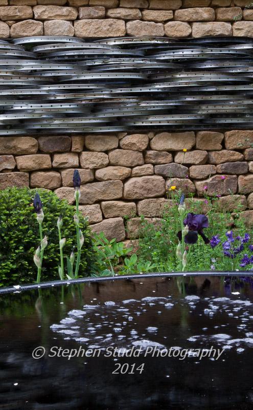 Peoples Choice winner in the Artisans section: RHS Chelsea flower show 2014 - Tour de Yorkshire Garden - Designer Alistair W Baldwin