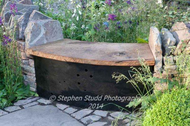 RHS Chelsea flower show 2014 - Vital Earth - The Night Sky Garden - Designers: David & Harry Rich - Sponsors: Bord Na Mona UK