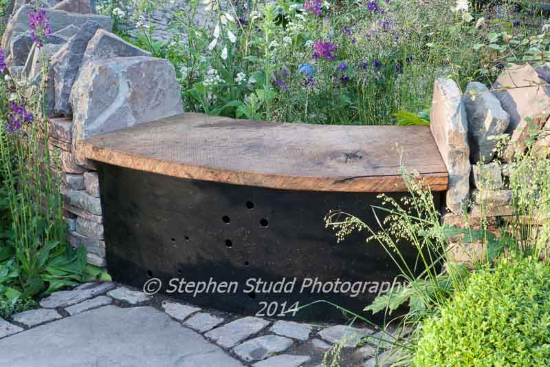 RHS Chelsea flower show 2014 - Vital Earth - The Night Sky Garden - Designers: David & Harry Rich - Sponsors: Bord Na Mona UK