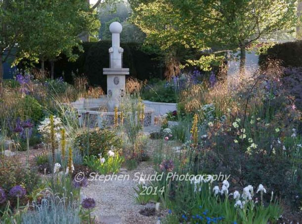 Chelsea RHS flower show 2014 - The M&G Garden - designer Cleve West - sponsors M&G Investments
