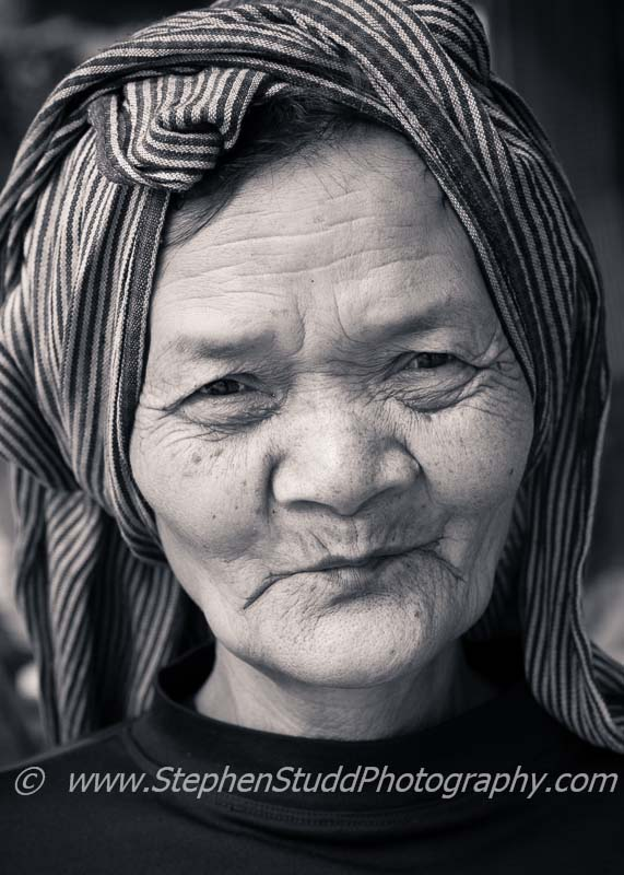 South East Asia Cambodia Siem Reap Angkor Wat temple complex UNESCO World Heritage site portrait of Cambodian Khmer old woman with traditional headscarf digital photography holidays holiday vacations tour tours workshop workshops to Myanmar Burma Cambodia Angkor Wat Venice marrakech Paris Morocco Prague hosted by Stephen Studd