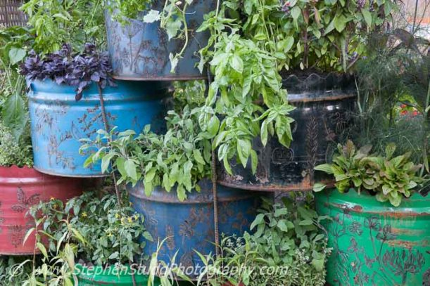 Stephen Studd - Garden - Space to Connect and Grow - view of garden - Designer - Jeni Cairns in collaboration with Sophie Antonelli  - Sponsor - Metal - Earls Scaffolding & British Sugar