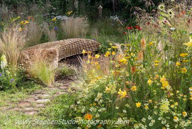 RHS Hampton Court flower show, Stephen Studd photography  - Garden - Jordans Wildlife Garden - view of garden - Designer - Selina Botham - Sponsor - Jordans Cereals