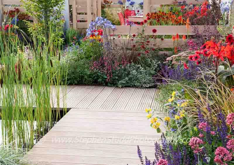 Tatton Park 2014 Cheshire RHS flower show Pip Probert 'The Narrows' garden