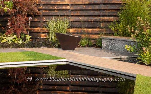 Tatton Park 2014 Cheshire RHS flower show Elemental garden designed by Ian Price.