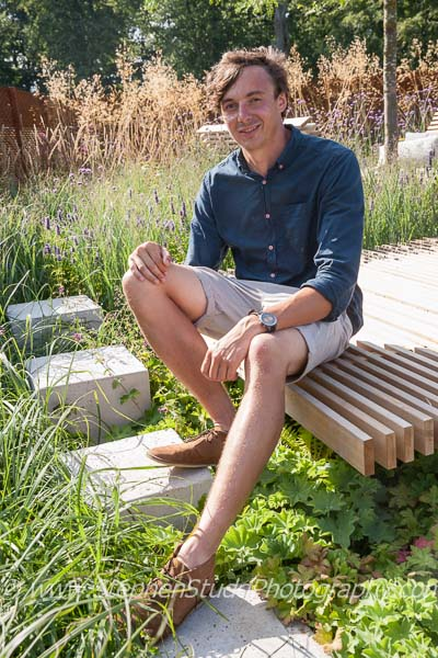 RHS Young Garden Designer of the Year award winner Sam Ovens - The Sky's the Limit garden at Tatton Park Cheshire RHS flower show 2014