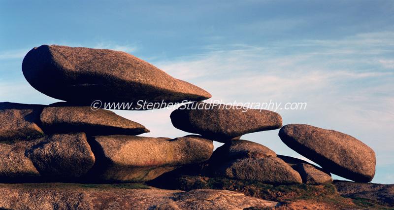 Balanced weathered stones Bodmin moor