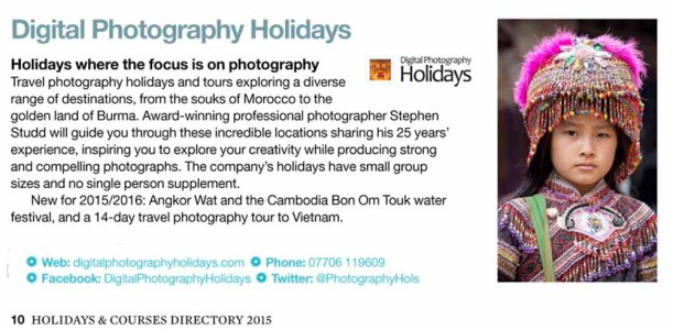 Stephen Studd hosting Digital travel photography holidays vacations tours workshops to Myanmar, (Burma), Cambodia Angkor Wat, Vietnam, Morocco Marrakech and the Gower, Wales 2015 and 2016