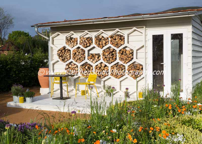 Malvern spring rhs show 2015 The Bees Knees silver gilt designed by martyn Wilson