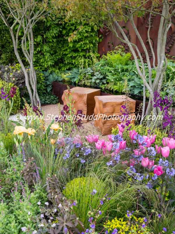 RHS Malvern spring festival 2015  Constraining Nature designed by Kate Durr Garden Design Best Festival Garden award and a gold medal