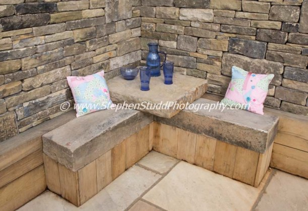 RHS Malvern spring rhs show 2015 Pip Probert 'Cornerstone' garden Outer Spaces garden design Silver Gilt