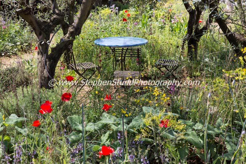 RHS Chelsea flower show 2015 L'Occitaine: A Perfumers Garden in Grasse – Designer James Basson - Sponsor – L'Occitaine UK Ltd - awarded