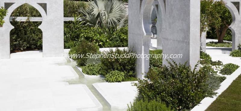 RHS Chelsea flower show 2015 The Beauty of Islam - Designer – Kamelia Bin Zaal - Sponsor - Al Barari Firm Managemnet LLC awarded Silver Gilt
