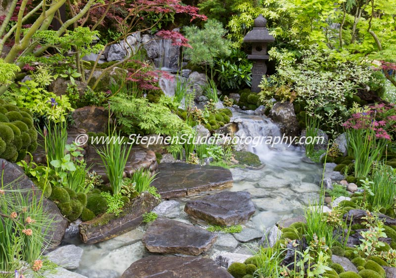 RHS Chelsea flower show 2015 – Edo no Niwa – Edo Garden by Ishihara Kazuyuki Design laboratory garden – Designer Kazuyuki Ishihara - Sponsor – Cat's Co Ltd – awarded Gold