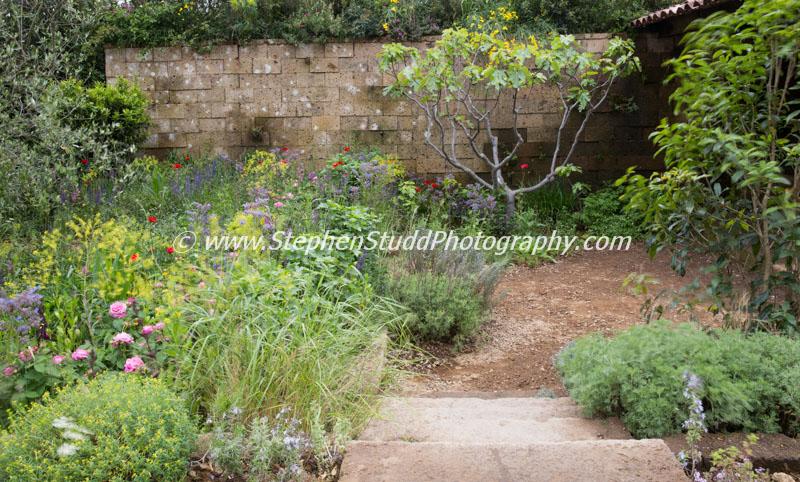 RHS Chelsea flower show 2015 L'Occitaine: A Perfumers Garden in Grasse – Designer James Basson - Sponsor – L'Occitaine UK Ltd - awarded Gold