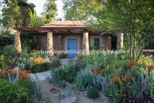 RHS Chelsea flower show 2015 Sentebale – Hope in Vulnerability - Designer Matt Keightley - Sponsor - David Brownlow Charitable Foundation – Sentebale – Princes Foundation for Building Community - awarded Silver Gilt Medal