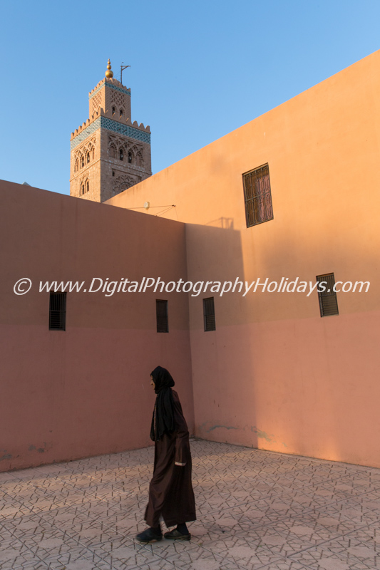 digital travel photography holidays tours workshops to Marrakech Morocco, Vietnam, Cambodia, Burma Asia hosted by Stephen Studd Koutoubia mosque