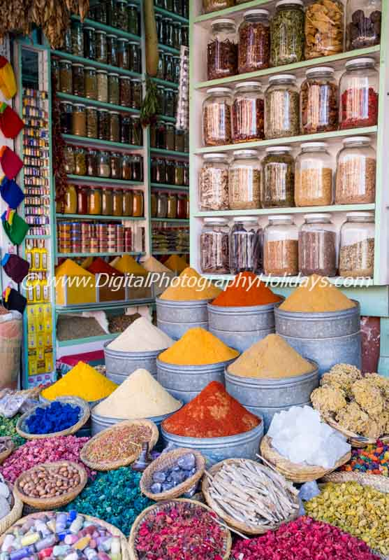 digital travel photography holidays tours workshops to Marrakech Morocco, Vietnam, Cambodia, Burma Asia hosted by Stephen Studd spices souk