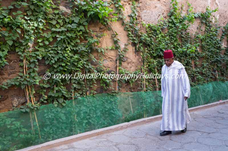 digital travel photography holidays tours workshops to Marrakech Morocco, Vietnam, Cambodia, Burma Asia hosted by Stephen Studd man with fez hat