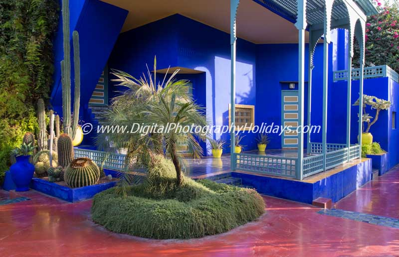 digital travel photography holidays tours workshops to Marrakech Morocco, Vietnam, Cambodia, Burma Asia hosted by Stephen Studd Jardin Majorelle