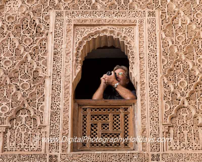North Africa, Morocco, Marrakech, Marrakesh, Digital photography holidays and tours to Morocco, Marrakech Ben Youssef Madrasa