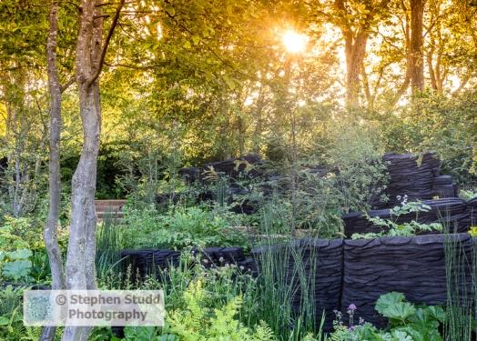 Photographer: Stephen Studd - The M & G Garden, view of green ga